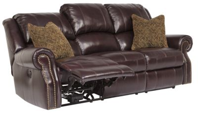 Ashley Walworth Leather Power Reclining Sofa