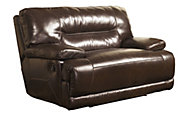 Ashley Exhilaration Leather Power Wide Wall Recliner