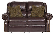 Ashley Walworth Leather Power Reclining Loveseat