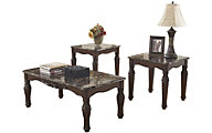 Ashley North Shore Coffee Table & 2 End Tables