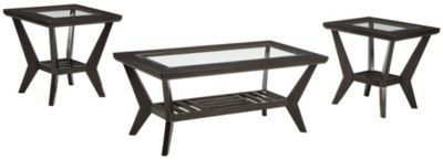 Ashley Lanquist Coffee Table & 2 End Tables