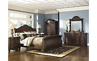 Ashley North Shore 4-Piece Queen Sleigh Bedroom Set