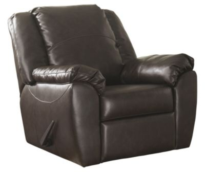 Ashley Franden Bonded Leather Rocker Recliner