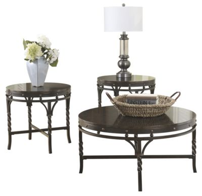 Ashley Brindleton Coffee Table and 2 End Tables