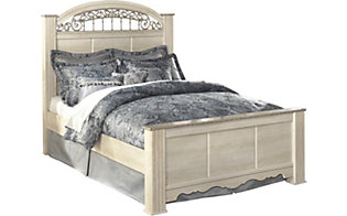 Ashley Catalina King Poster Bed