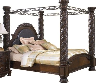 Ashley North Shore King Poster Bed