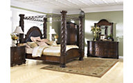 Ashley North Shore 4-Piece King Canopy Bedroom Set