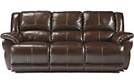 Ashley Lenoris Leather Power Reclining Sofa
