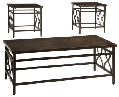 Ashley Tippley Coffee Table and 2 End Tables