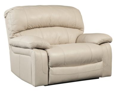 Ashley Damacio Leather Zero Wall Power Wide Recliner