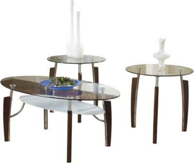 Ashley Avani Coffee Table and 2 End Tables
