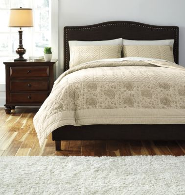 Ashley Paisley 3-Piece Queen Coverlet Set