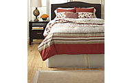 Ashley Cayenne Rouge 5-Piece Queen Comforter Set