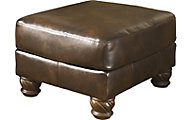 Ashley Fresco Bonded Leather Accent Ottoman