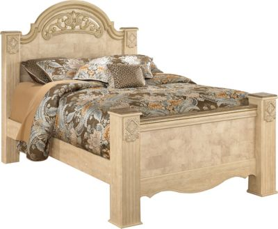 Ashley Saveaha Queen Poster Bed
