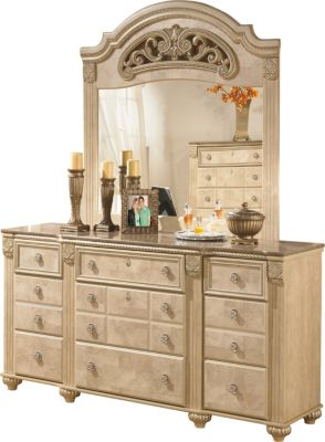 Ashley Saveaha Dresser with Mirror