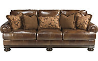 Ashley Hutcherson Leather Sofa