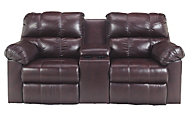 Ashley Kennard Leather Power Reclining Loveseat w/Console