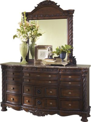 Ashley North Shore Dresser with Mirror