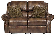 Ashley Walworth Leather Reclining Loveseat