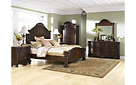 Ashley North Shore 4-Piece King Panel Bedroom Set