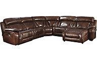 Ashley Elemen 5-Piece Power Reclining Leather Sectional
