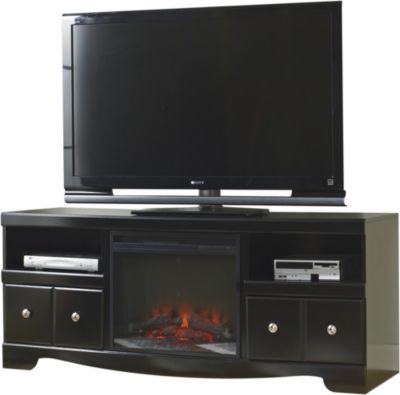 Ashley Shay TV Console with Fireplace Insert
