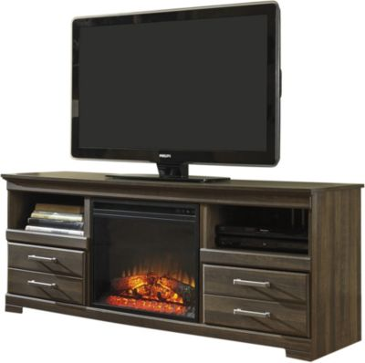 Ashley Frantin TV Stand with Fireplace Insert