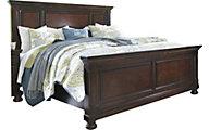 Ashley porter king storage bed homemakers furniture for Ashley porter panel bedroom set