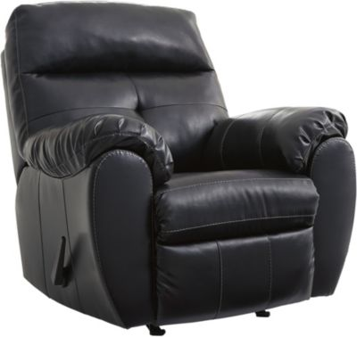 Ashley Bastrop Bonded Leather Rocker Recliner