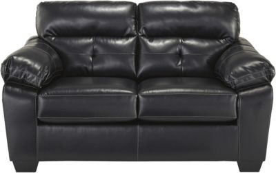 Ashley Bastrop Bonded Leather Loveseat