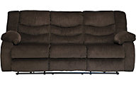 Ashley Garek Brown Reclining Sofa