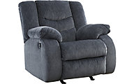 Ashley Garek Blue Rocker Recliner