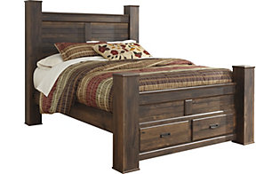 Ashley Quinden Queen Poster Storage Bed