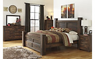 Ashley Quinden 4-Piece Queen Storage Bedroom Set