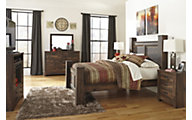 Ashley Quinden 4-Piece Queen Poster Bedroom Set