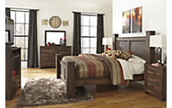 Ashley Quinden 4-Piece King Poster Bedroom Set