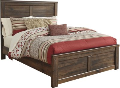 Ashley Quinden King Panel Bed