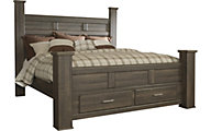 Ashley Juararo California King Storage Poster Bed