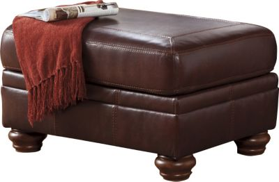 Ashley Hessel Leather Ottoman