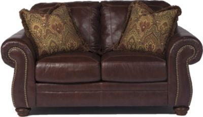 Ashley Hessel Leather Loveseat