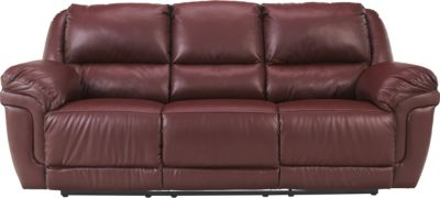 Ashley Magician Reclining Sofa with Drop-Down Table