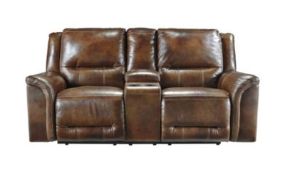 Ashley Jayron Power Reclining Leather Loveseat w/Console