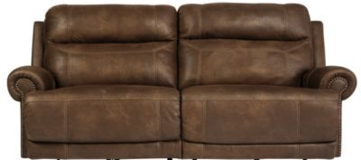 Ashley Austere Brown Power Reclining Sofa