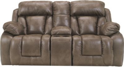 Ashley Loral Power Glider Reclining Loveseat with Console