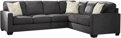 Ashley Alenya Charcoal Right-Side Sofa 3-Piece Sectional