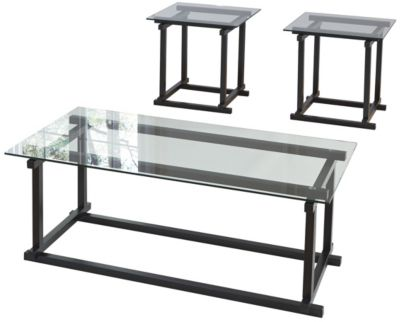 Ashley Vonarri Coffee Table & 2 End Tables