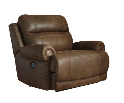 Ashley Austere Brown Power Wide Wall Recliner