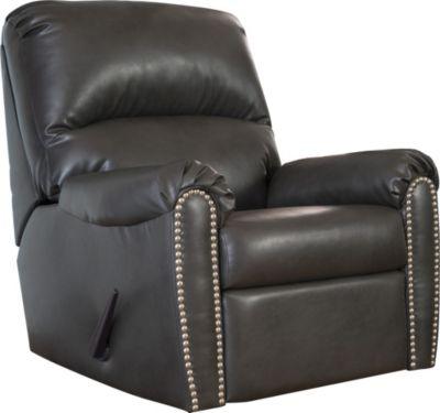 Ashley Lottie Gray Rocker Recliner
