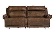 Ashley Austere Brown Reclining Sofa